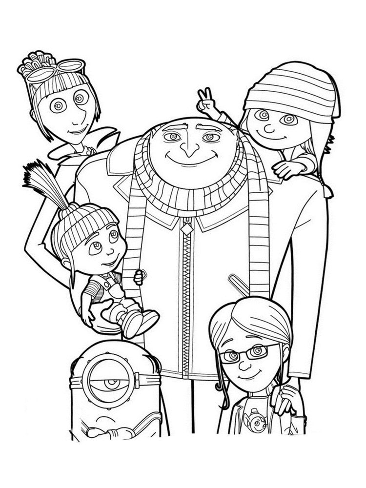 printable despicable me 3 coloring pages picture
