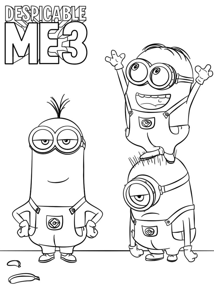 printable despicable me 3 coloring pages print