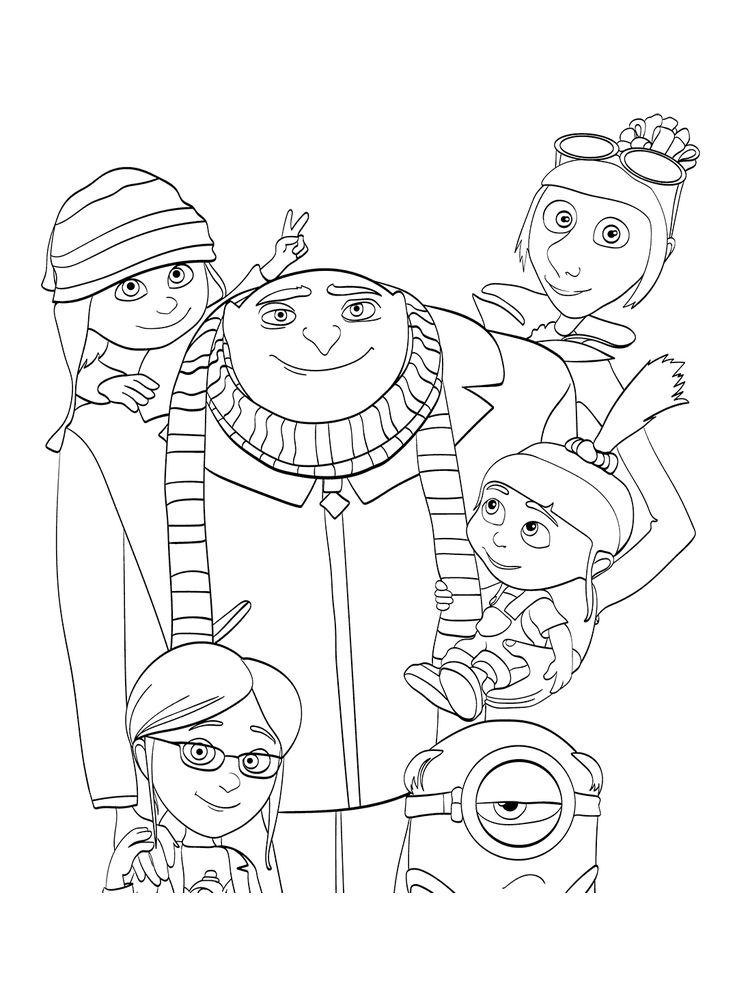printable despicable me 3 coloring pages