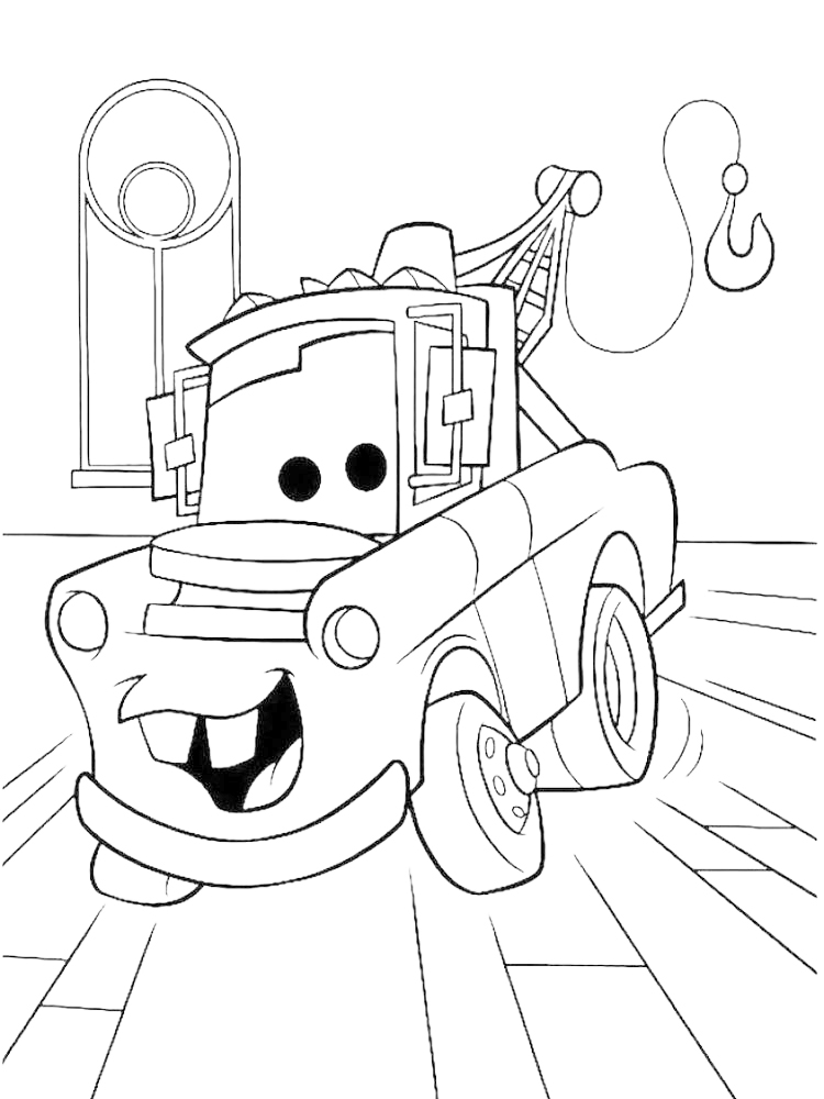 printable disney cars characters coloring pages