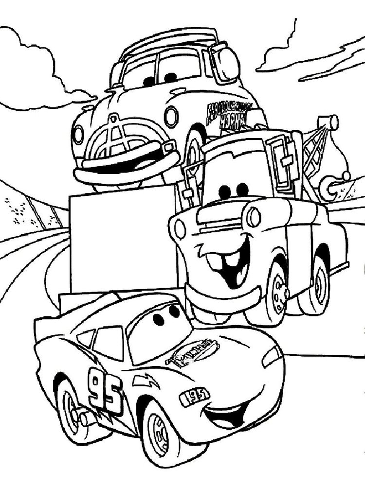printable disney cars coloring pages