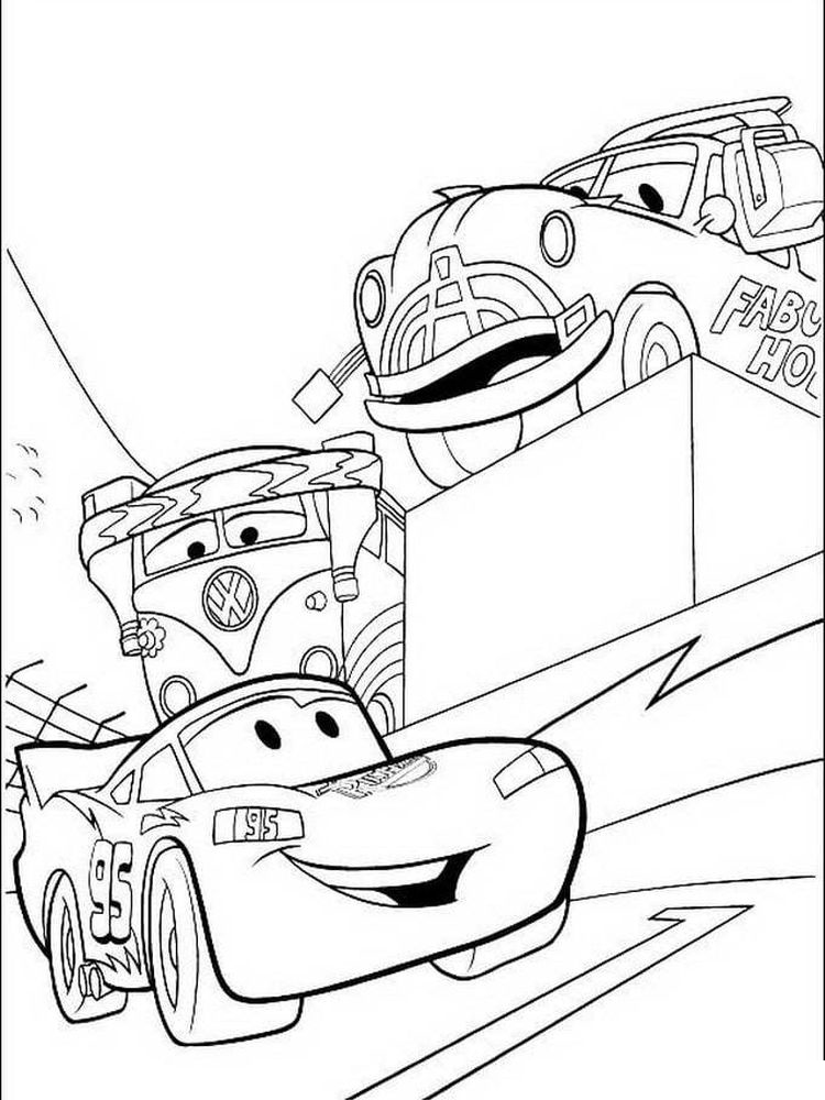 printable disney cars colouring pages free