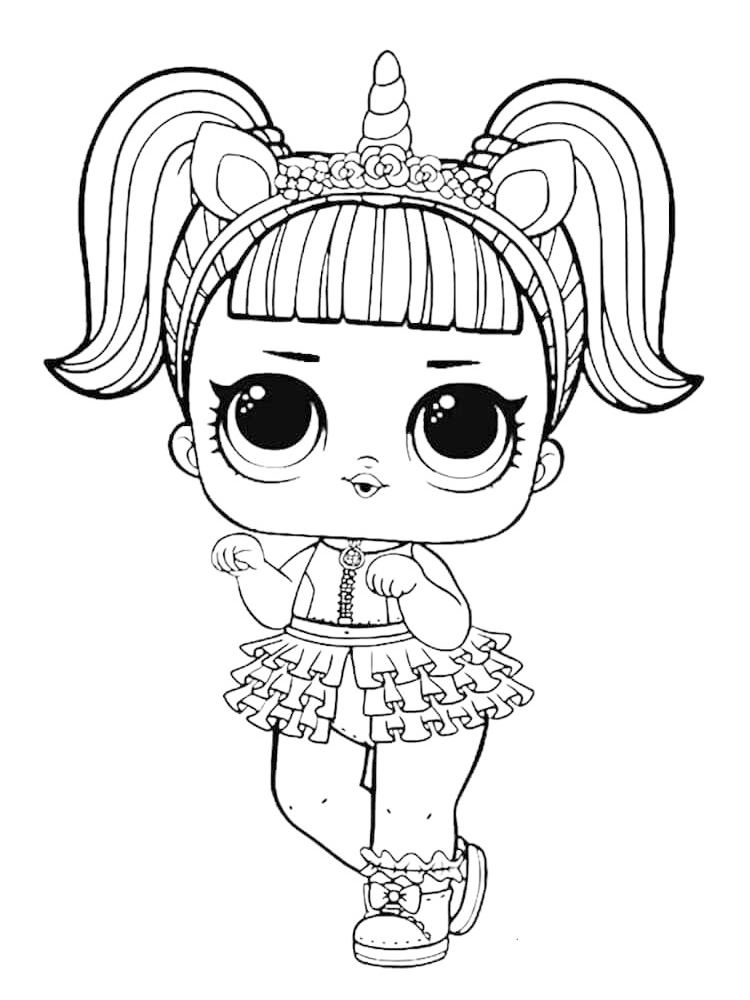 printable doll coloring page