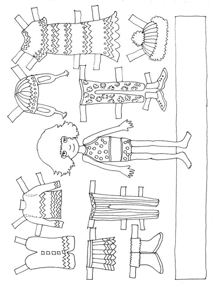 printable doll coloring pages baby