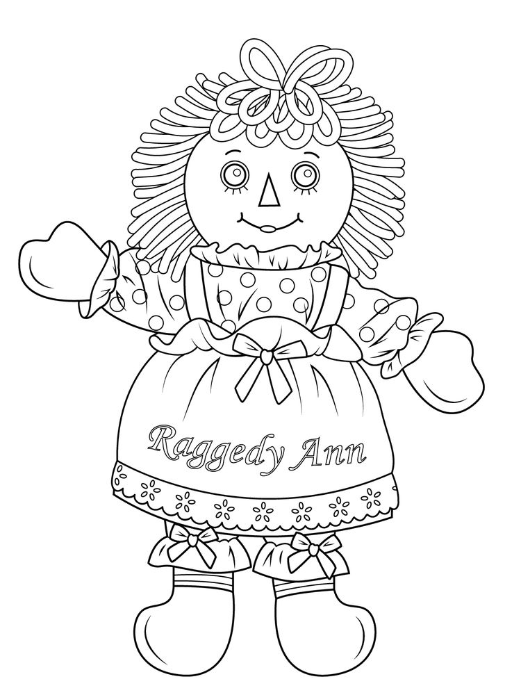 printable doll coloring pages free