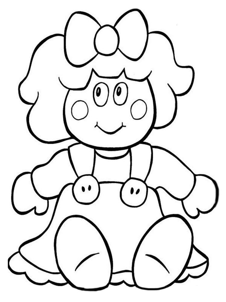 printable doll coloring pages printable