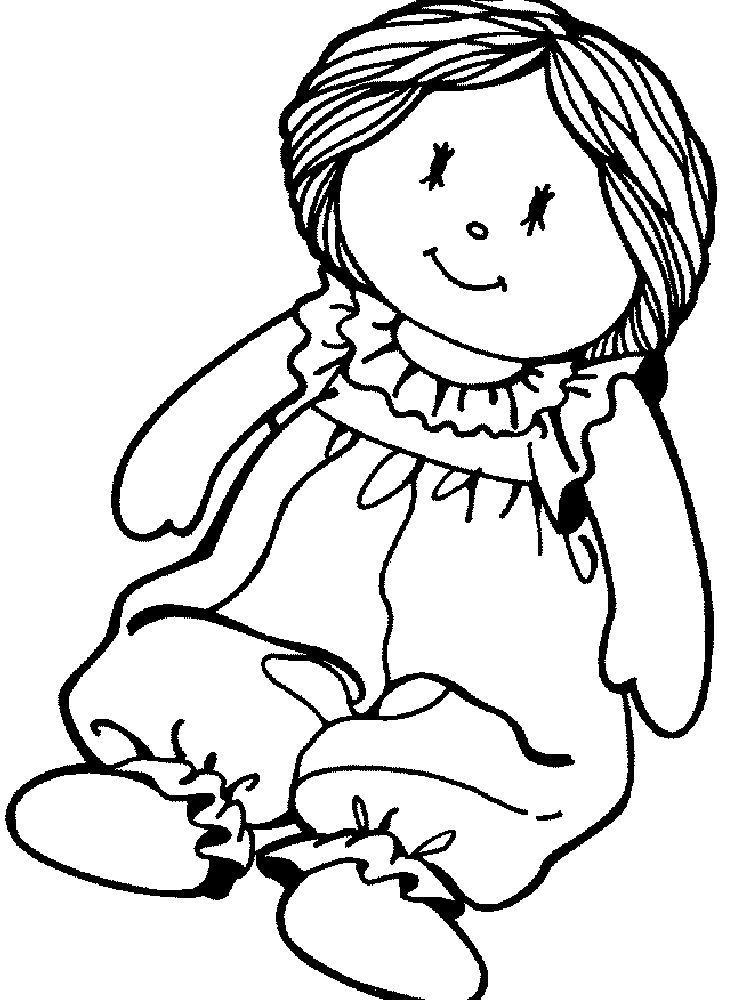 printable doll coloring pages