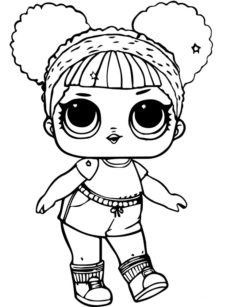 printable doll colouring page
