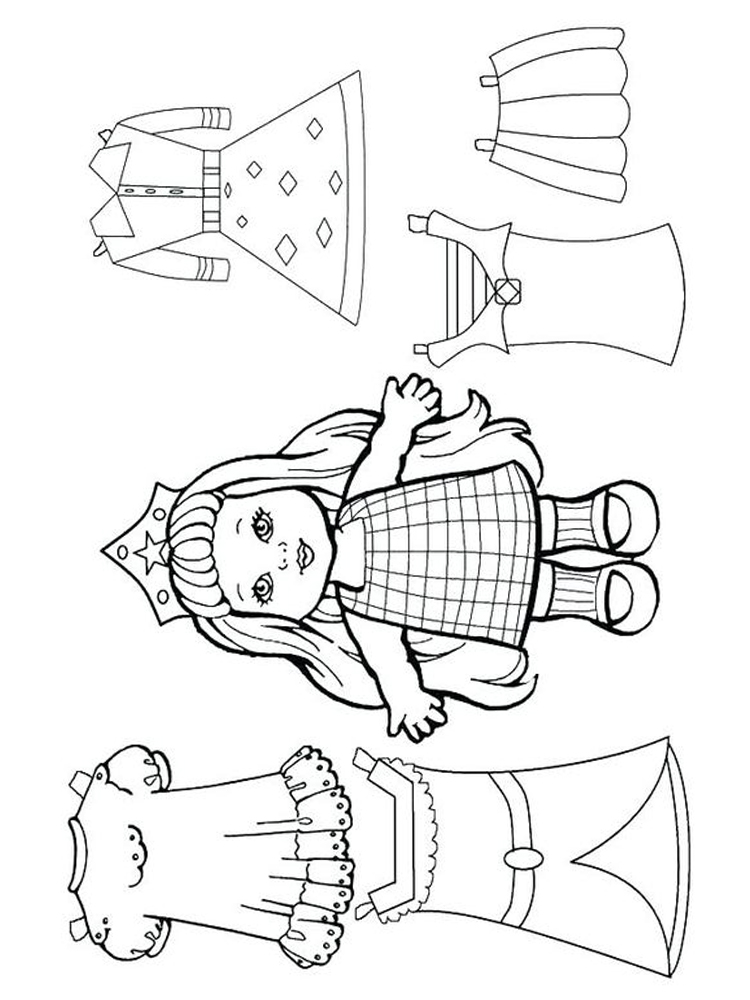 printable doll colouring pages