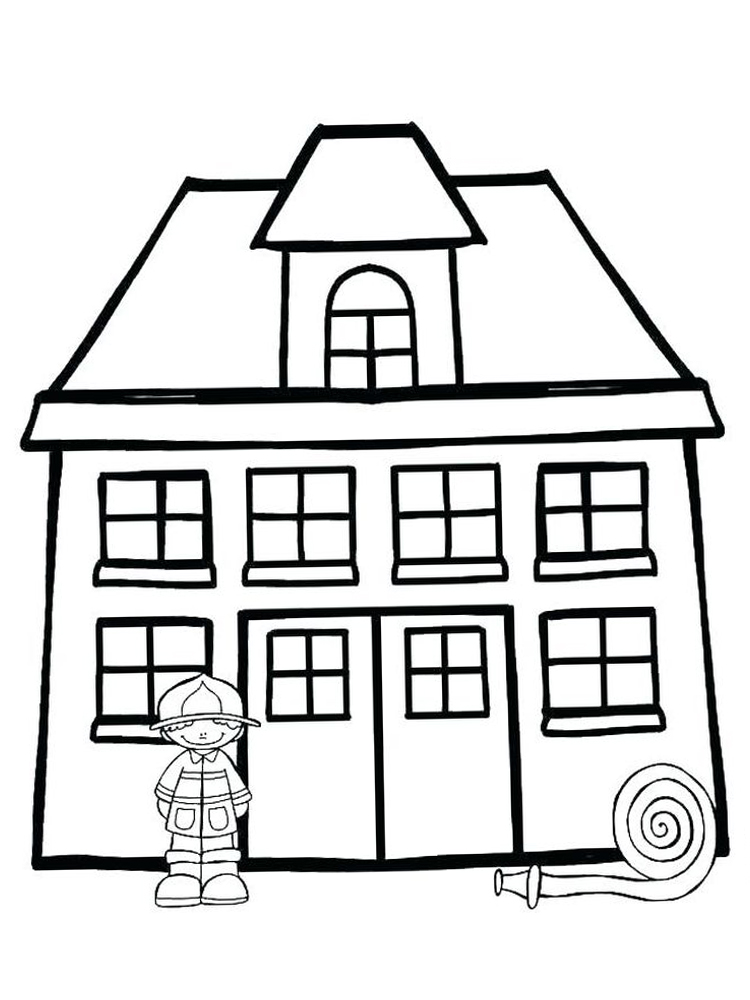 printable fire coloring page free