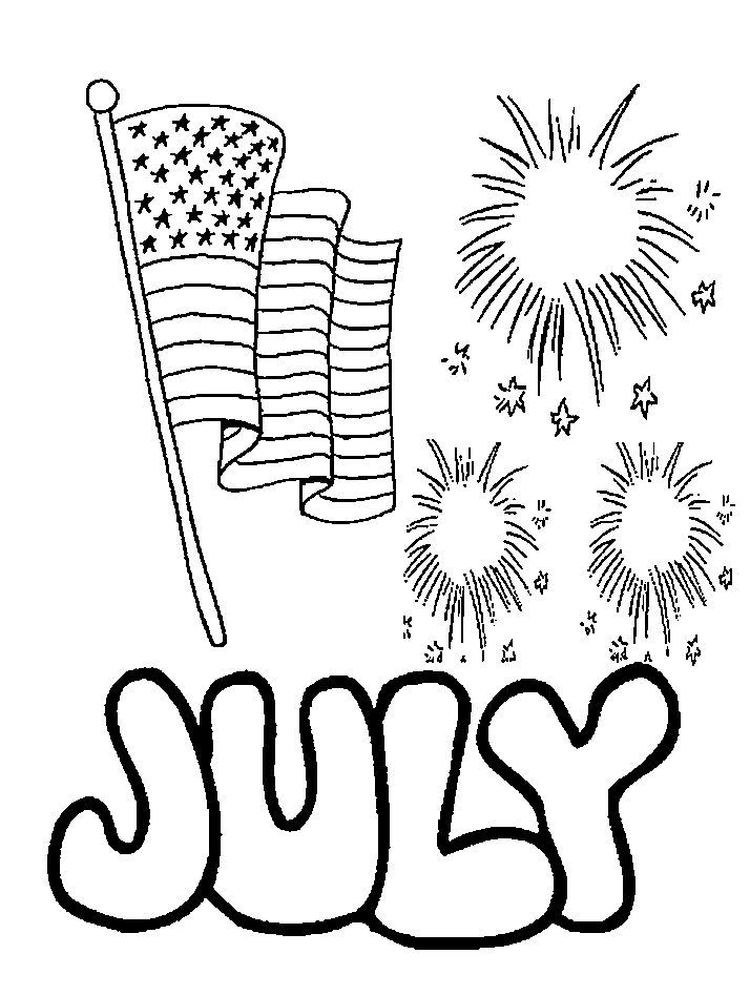 printable fireworks coloring pages 4th july