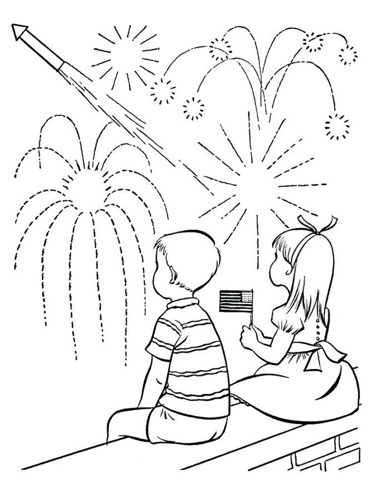 printable fireworks coloring pages for adults