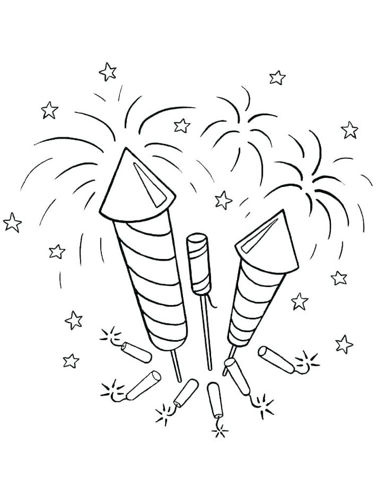 printable fireworks colouring pages free