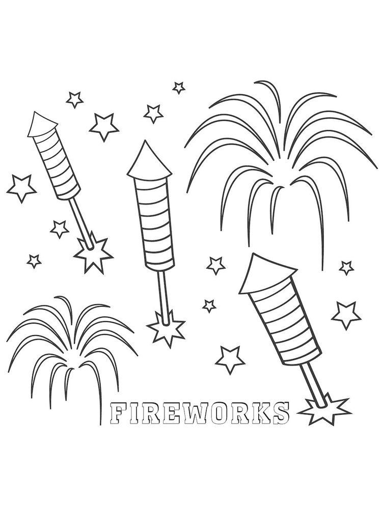 printable fireworks safety coloring pages