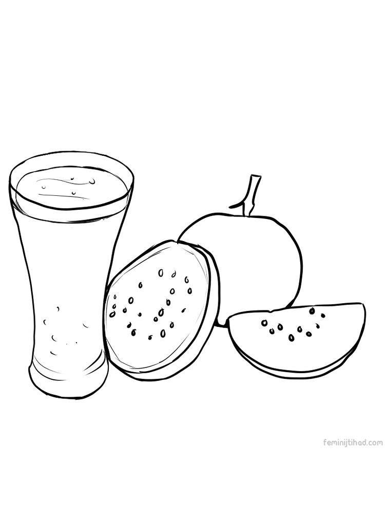 printable guava coloring picture print