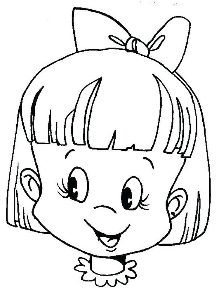 printable kid face coloring page