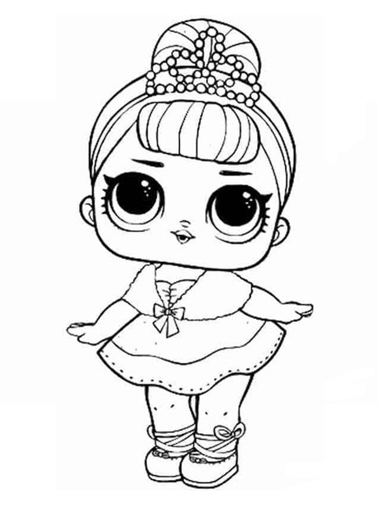 printable lol doll coloring page free