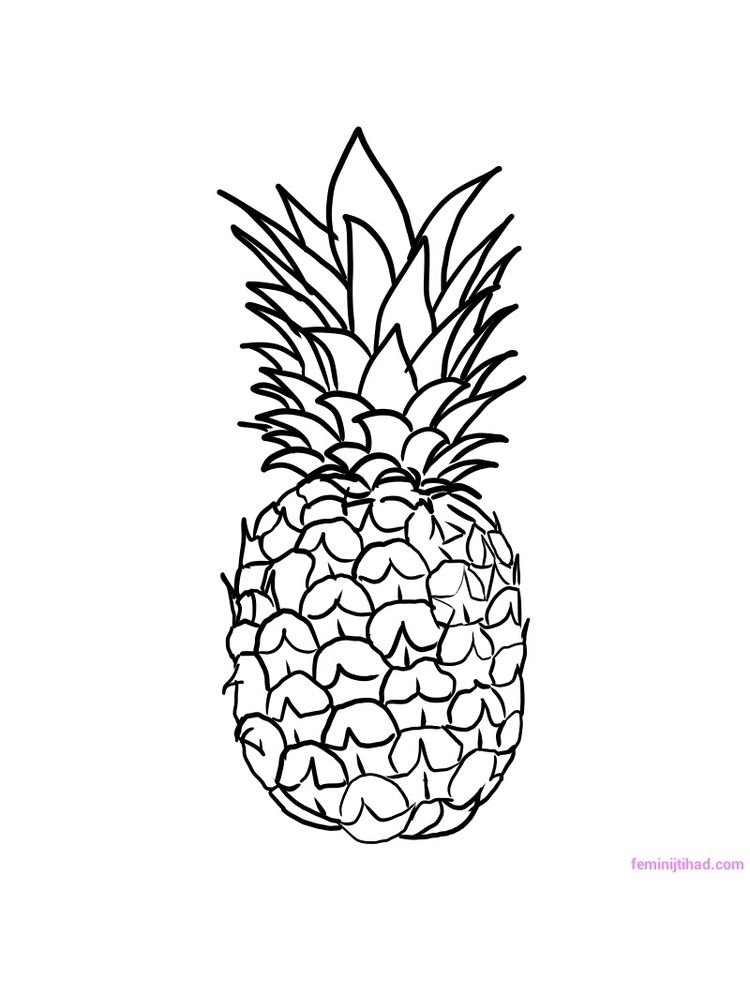 printable pineapple for coloring to print