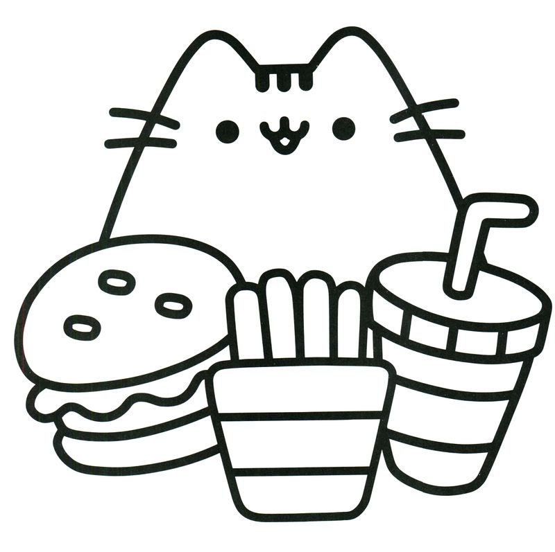 pusheen cat coloring pages free