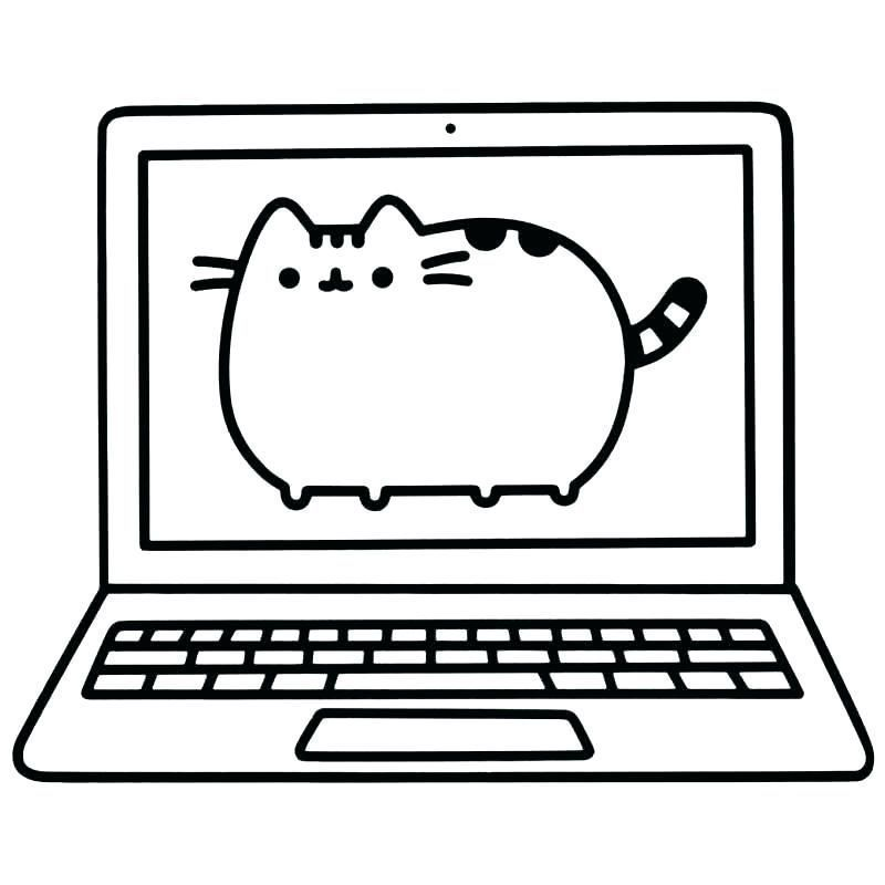 pusheen cat coloring pages printable