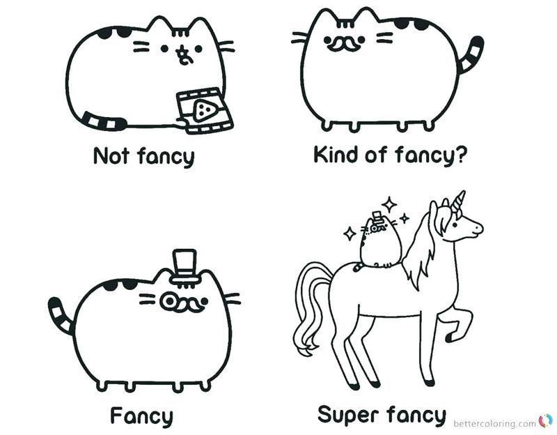 pusheen cat coloring pages