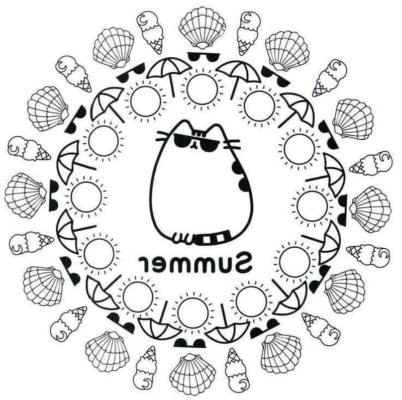 pusheen coloring book pages