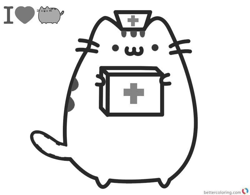pusheen coloring pages printables