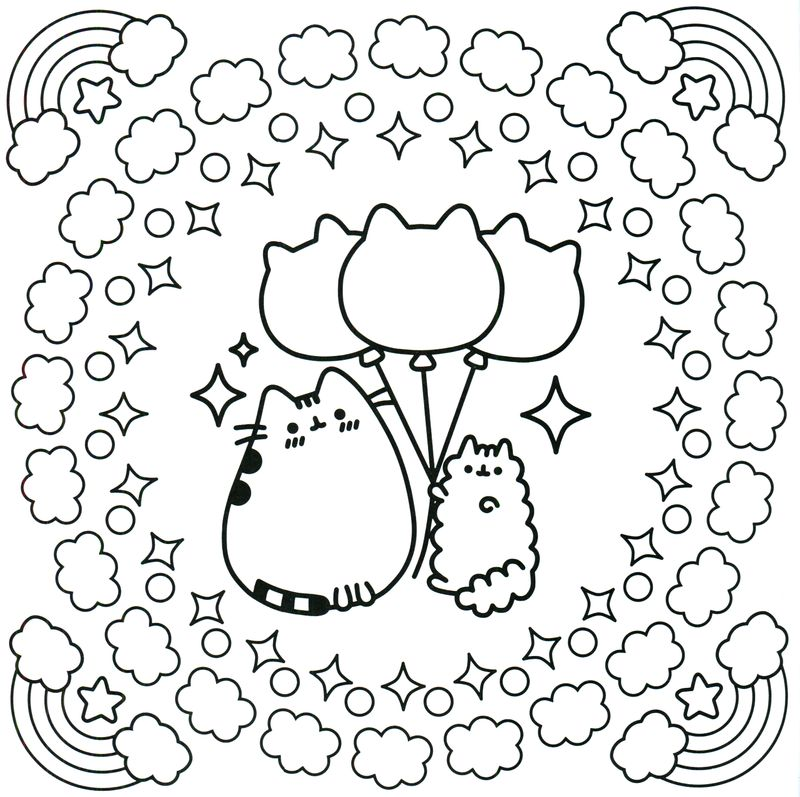 pusheen coloring pages supercoloring