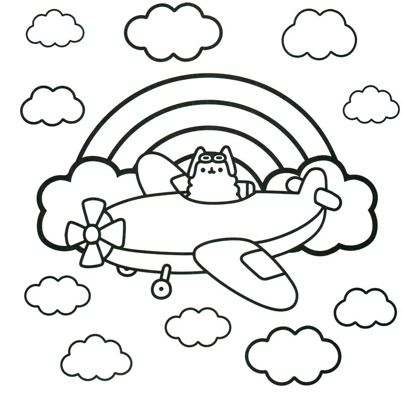 pusheen coloring pages you can print