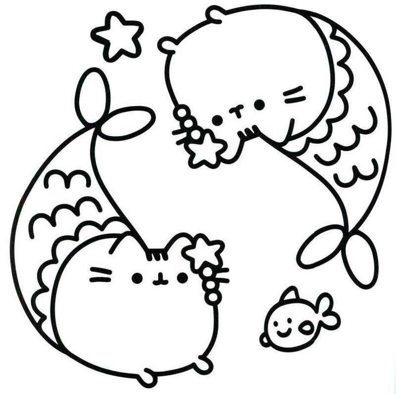 pusheen colouring book pages