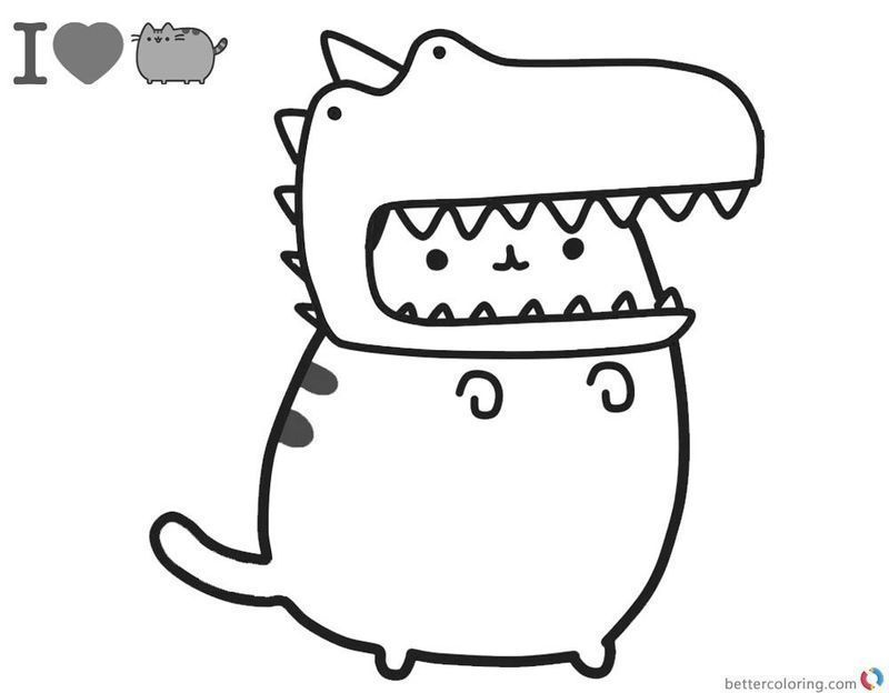 pusheen happy birthday coloring pages
