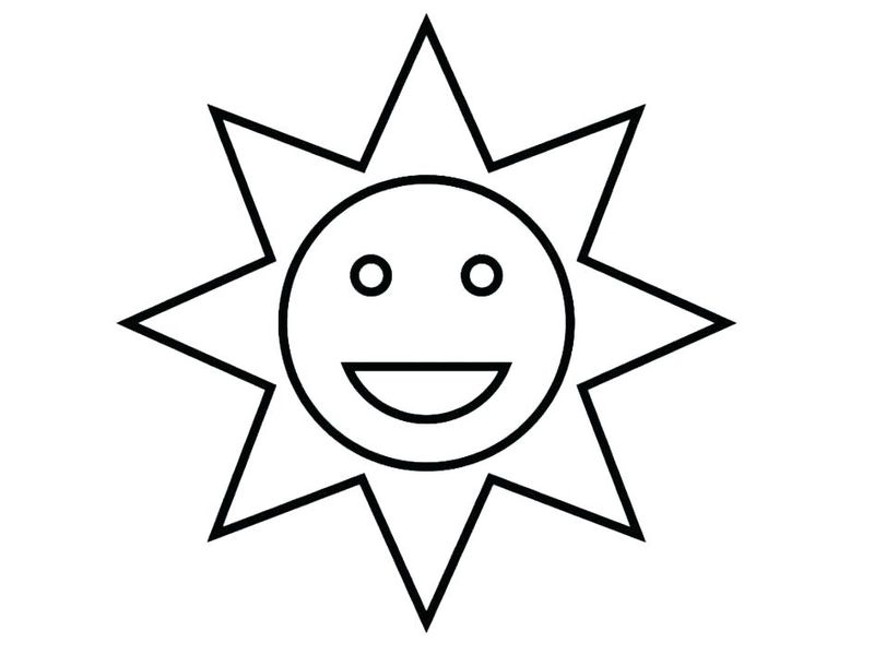 rainbow and sun coloring pages