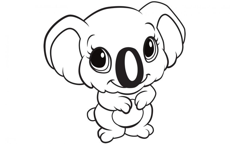 realistic baby animal coloring pages