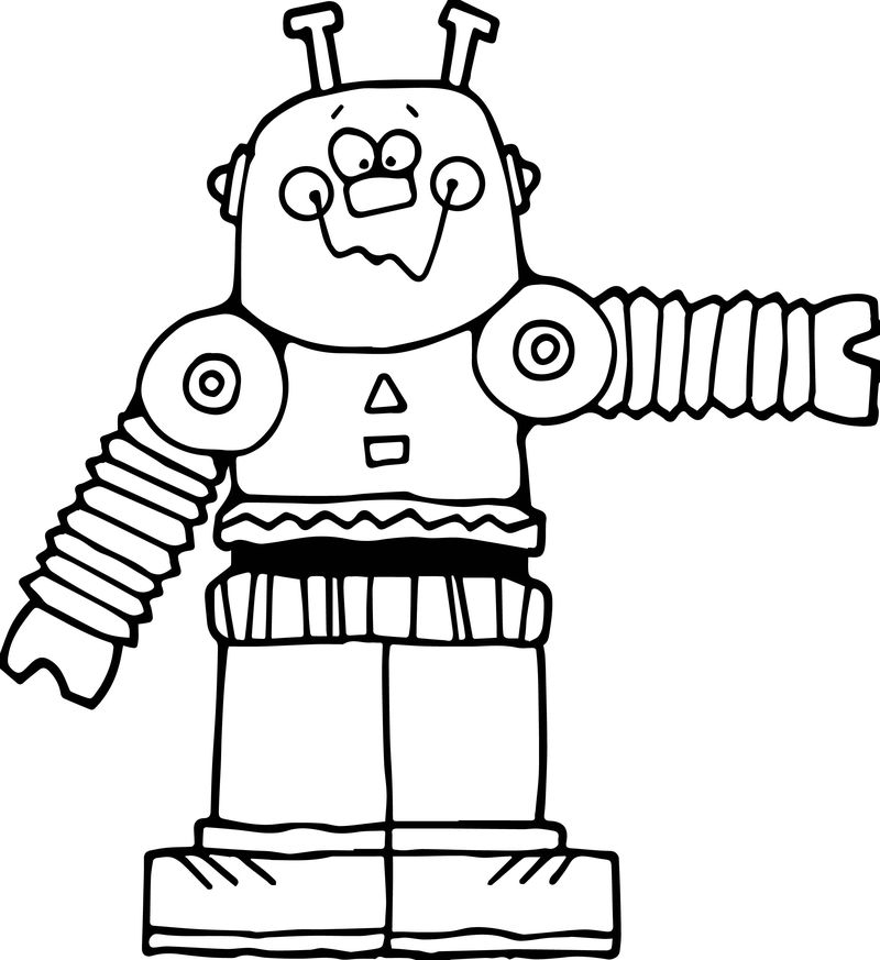 robot and monster coloring pages
