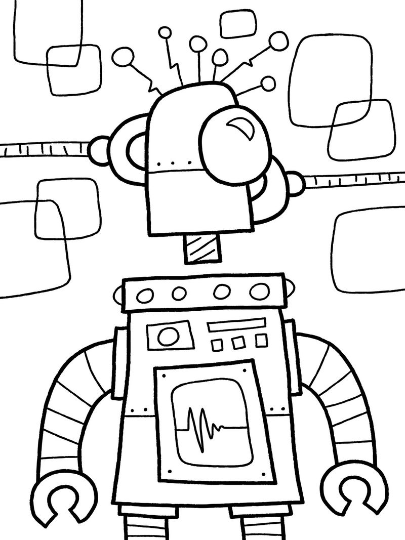 robot animals coloring pages