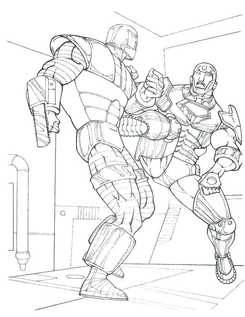 robot boy coloring pages