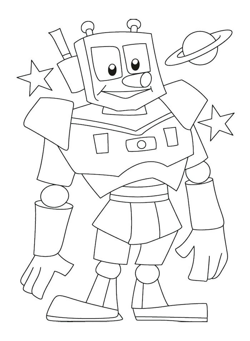 robot car coloring pages