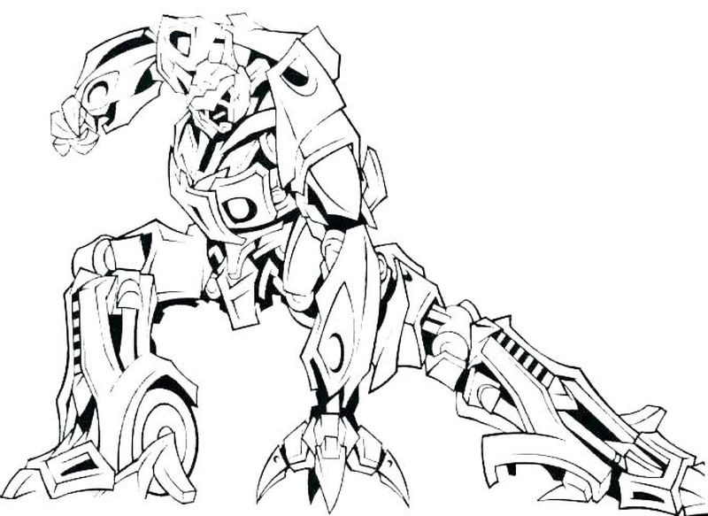 robot coloring pages mask
