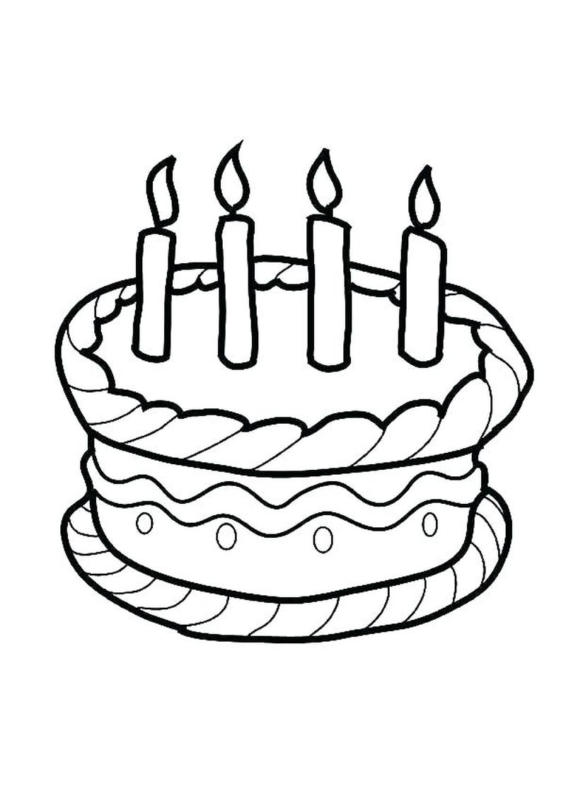 roll cake coloring pages