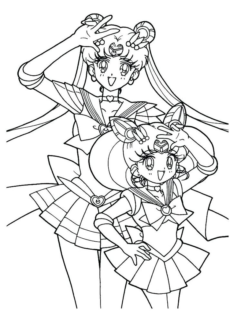 sailor moon and tuxedo mask coloring pages