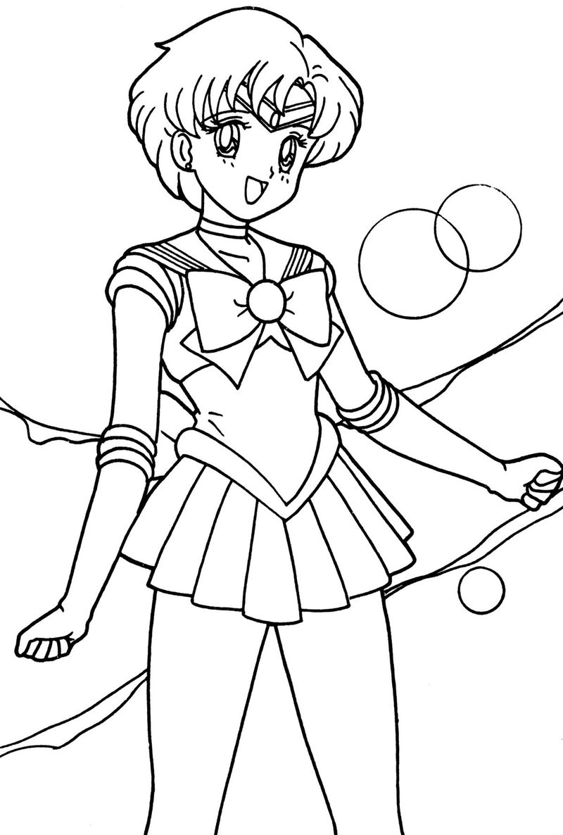 sailor moon cat coloring pages