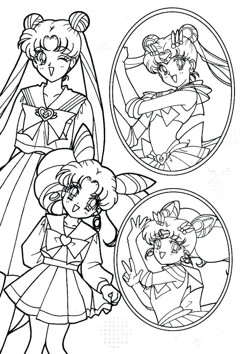 sailor moon coloring book pages