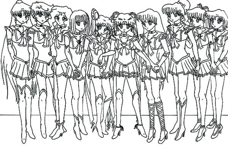 sailor moon colouring in pages