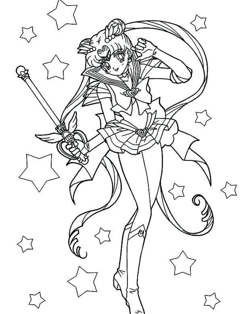 sailor moon colouring pages online