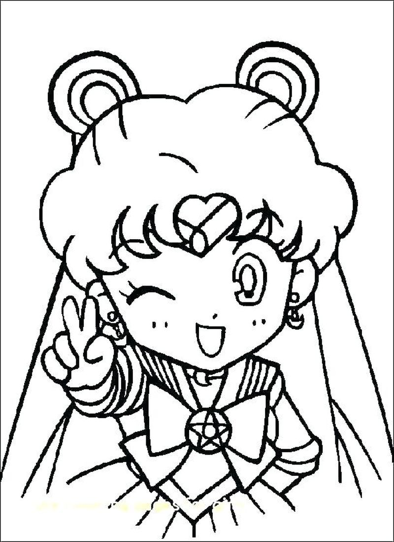sailor moon colouring pages printable