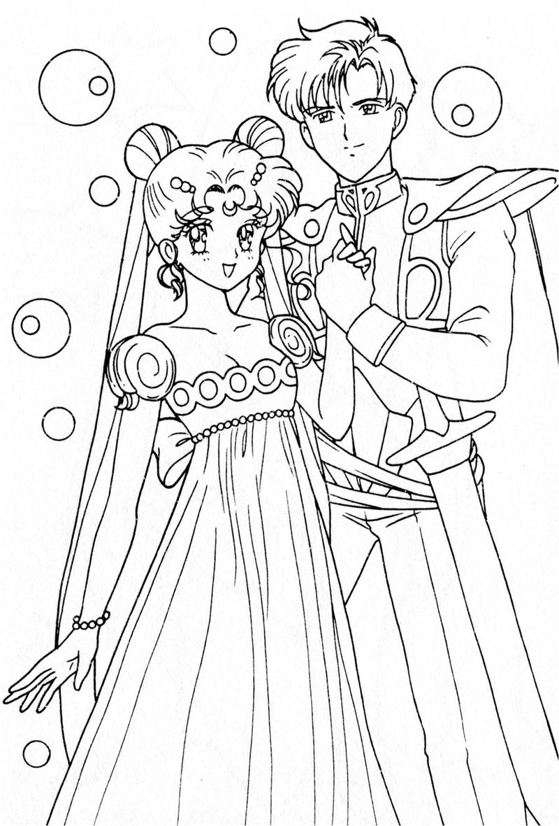 sailor moon colouring pages