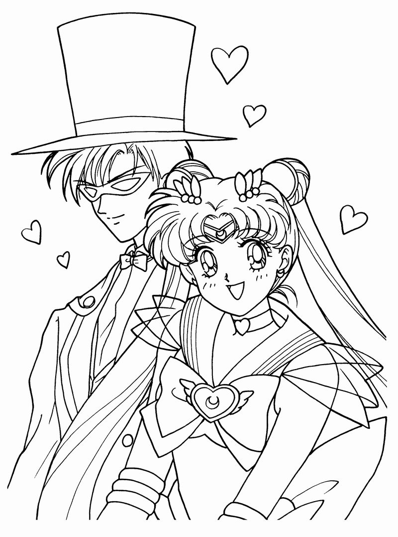 sailor moon diana coloring pages