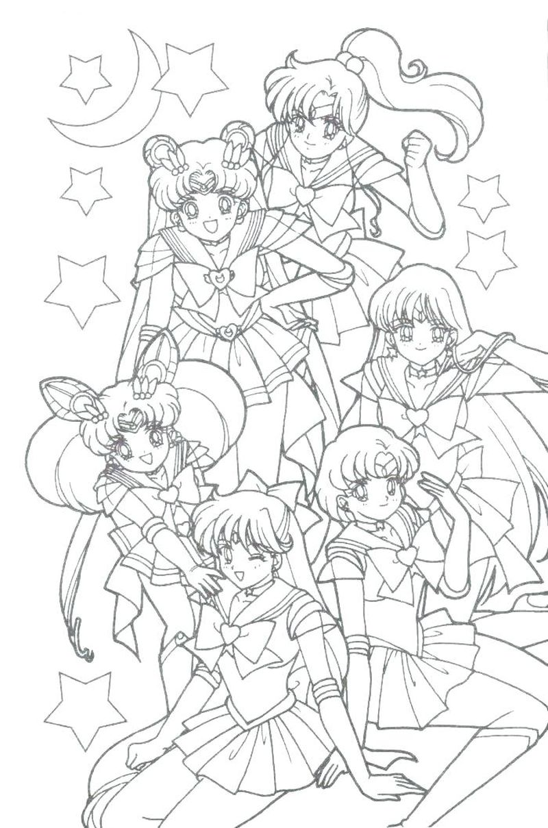 sailor moon tuxedo mask coloring pages