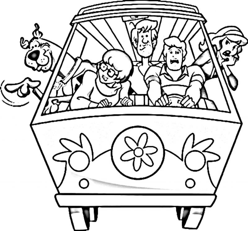 scooby doo and batman coloring pages