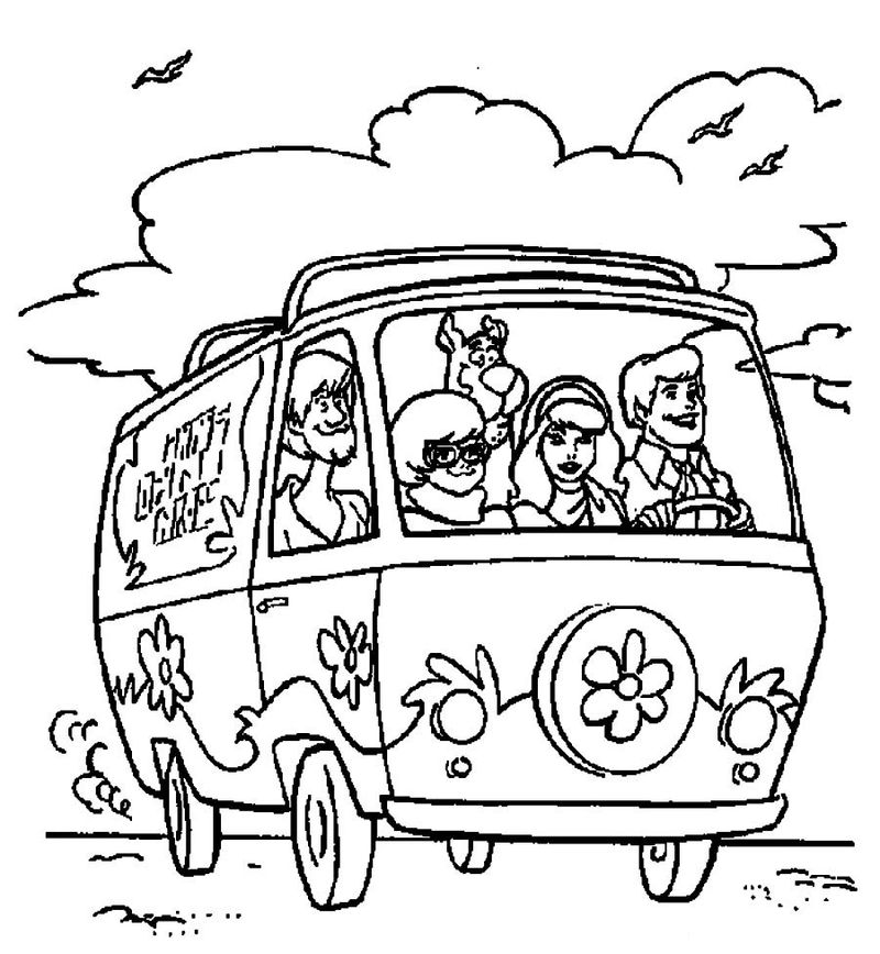 scooby doo and friends coloring pages